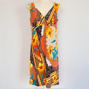 4/$20 ♥ 60's Style Pattern Mash-up Dress (M)